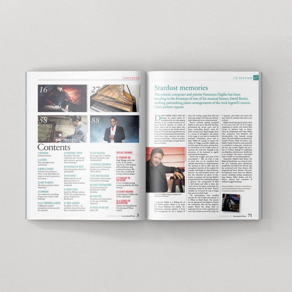 "Francesco Digilio Interview on ""International Pianist""Magazine March April 2017"
