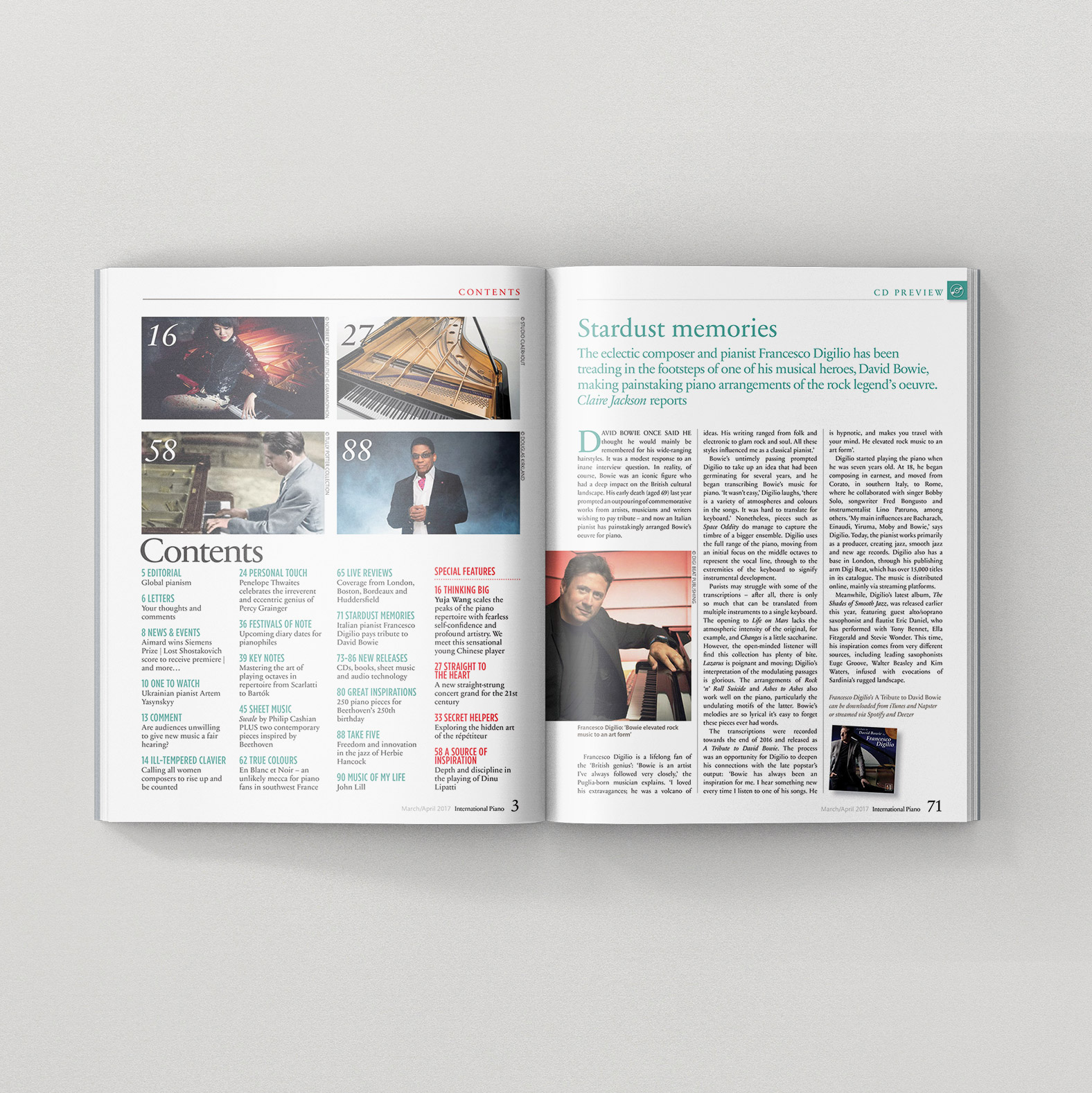 "Francesco Digilio Interview on ""International Pianist""Magazine March April 2017"